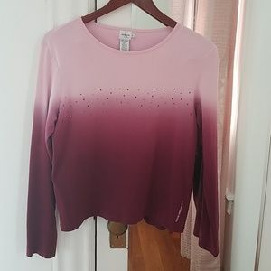 Calvin Klein women's sweater light pink and purple
